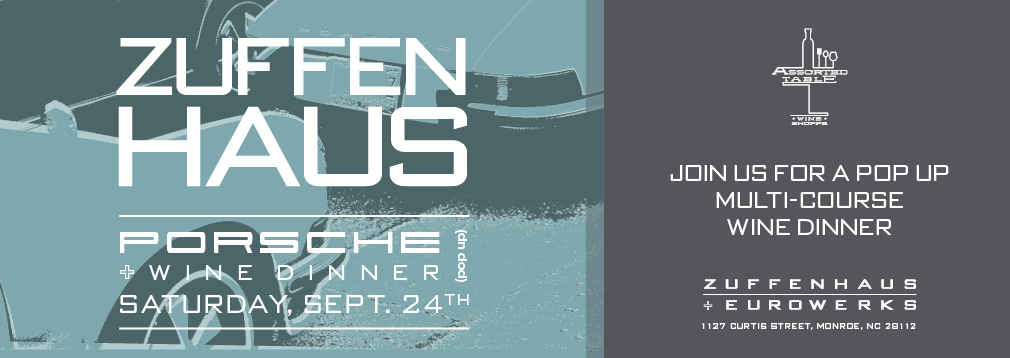 Zuffenhaus Porsche Pop-Up Wine Dinner – September 24