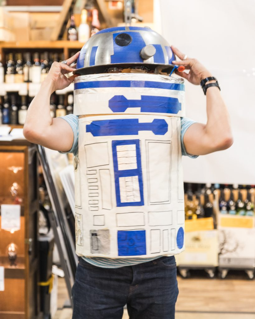 The owner josh in his R2D2 costume